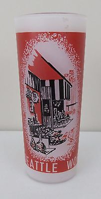Seattle World's Fair Frosted Drinking Glass from 1962 Boulevards of the World