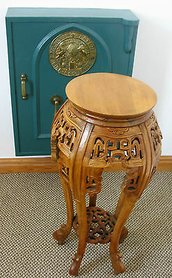 Plant Stand Hand Carved Wooden  *new*