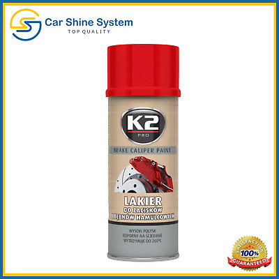 K2 Brake Caliper RED High Gloss Heat 260°C Resistant Paint Spray 400ml