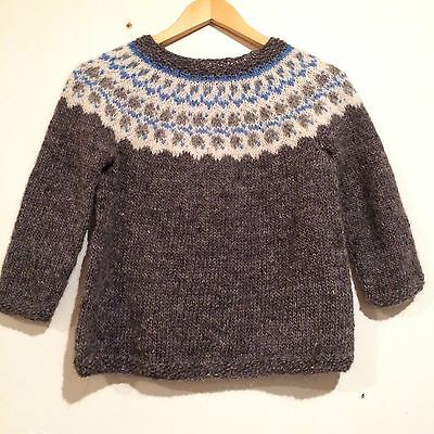 Hand-knit ICELANDIC sweater for boy and girls from  13 to 15 years old , Warm