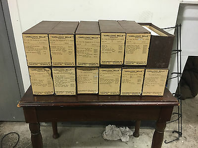 12 Vintage Carillon Music Rolls Songs for Church Bells Musical Instrument