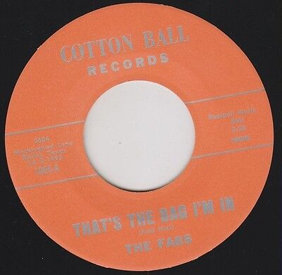 """THE FABS That's The Bag I'm In Re. 7"""" 45rpm Dynamite 1966 Garage Punk Mover HEAR"""