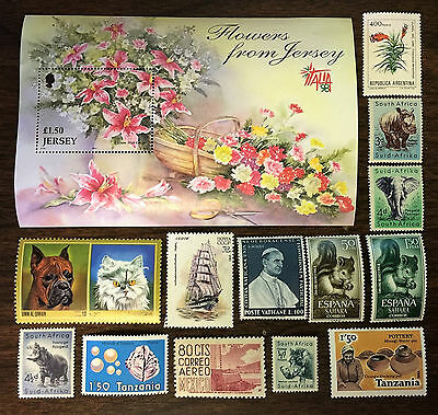 [Lot 450] 100 Different Mint Worldwide Stamp Collection