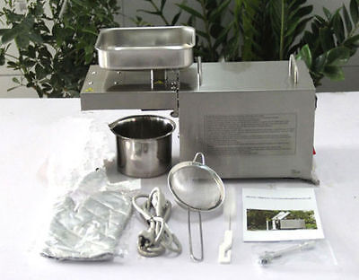 Latest Automatic Small Oil Press Machine Stainless Steel Cold Hot 110V or 220V