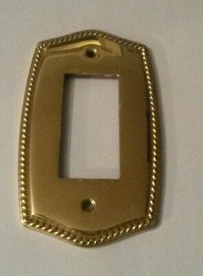 vintage brass electrical plate