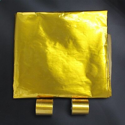 2 Pieces Heat Reflective Adhesive Backed Sheet Racing Engine 2 pieces Gold Tape