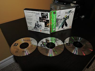 Final Fantasy VII (7) Greatest Hits - Discs and Case - Sony Playstation
