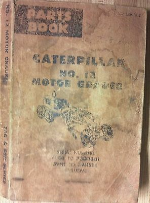 Partsbook for Caterpillar No. 12 Motor Grader; 73G1 to 73G3301 / 59H1 to 59H528