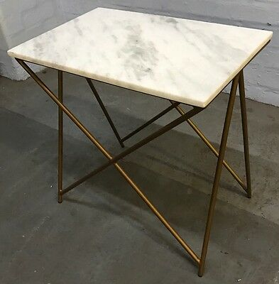 Atkin And Thyme - Stellar White Marble Side Table