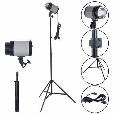 2X160W Photography Studio Lighting Kit Strobe Photo Flash Light Stand Holder