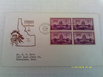 FDC House of Farnam #896 block of 4 (Roth)