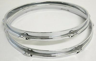 """NEW Replacement 2.3mm 12"""" TOM DRUM HOOPS / RIMS For Ludwig/Pearl/DW/Etc (6-Hole)"""