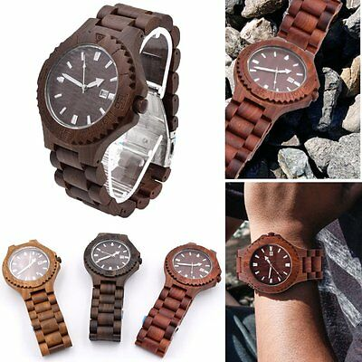 Luxury Men's Women's Bamboo Wood Watch Quartz Leather Wristwatches Fashion hot
