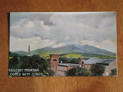 Antique Pc Heavy Clouds Over Ascutney Mountain In Vermont, Used 1912