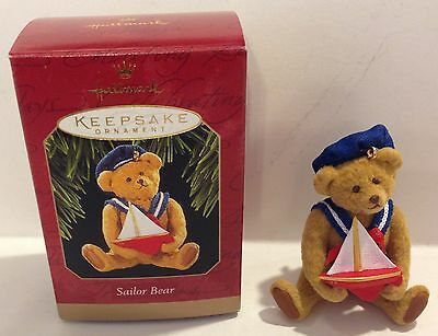 1997 Hallmark Sailor Bear Ornament China - Nib