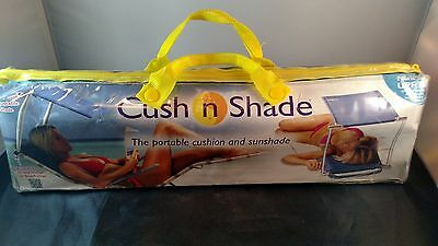 Cush-N-Shade The Portable Cushion and Sunshade Adjustable Shade Blue 50+ UPF