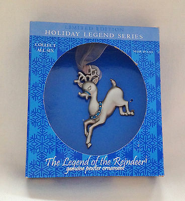 Gloria Duchin Pewter Legend of the Reindeer Christmas Ornament Limited Edition
