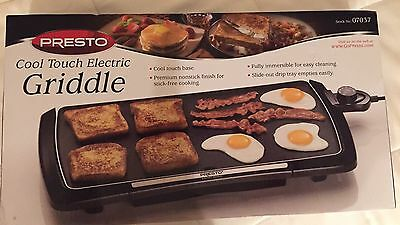 Presto Cool Touch Electric Griddle Model 07037 New!