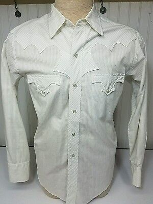 "Vtg 1950's TEM TEX ""TEXAS STAR""  Pearl Snap Sawtooth Western Shirt M NEAR MINT"