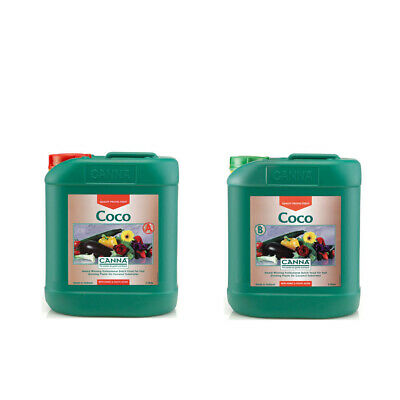 Canna Coco A+B - 2 x 5L Set | Hydroponics Base Nutrient | Vega Flower Bloom