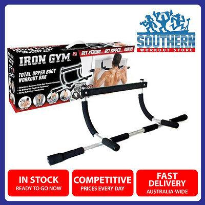 Iron Gym Door Pull Chin Push Up Bar Upper Body Workout Fitness Strength Training
