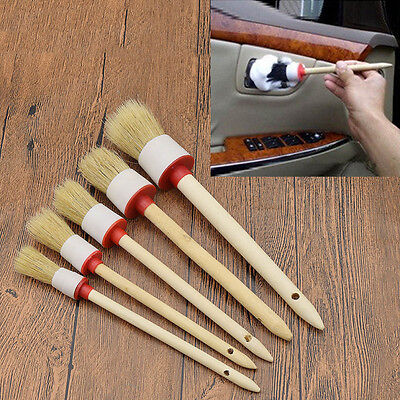 Round Bristle Oil Painting Brushes Car Washing Automotive Trim Cleaning Supplies