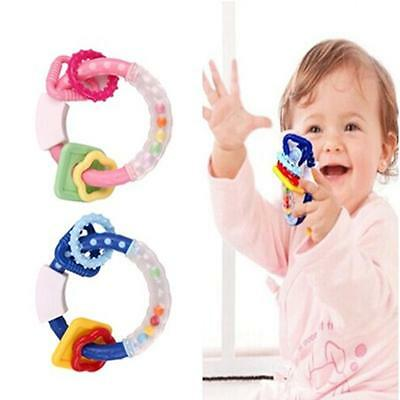 Baby Toddler Teether Chew Toy Molar Rod Silicone Handbell Jingle Styles Toys JJ
