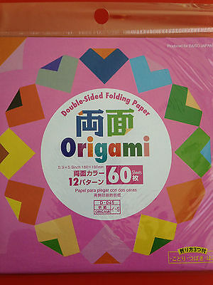 60 Sheets Origami Double Sided Folding Paper 150mm X150mm