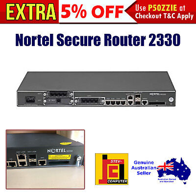 Nortel Secure Router 2330 - MSRP: $1,497.00 - Standard 3 Slot Chassis