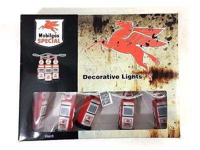 Mobilgas Special Decorative String Lights Collector Edition Gas Pump Man Cave