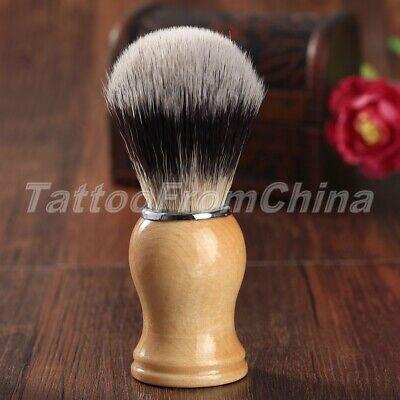 Synthetic Hair Barber Shave Shaving Razor Brush with Wood Handle for Men Gift