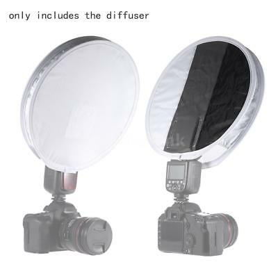 Universal Portable Light Softbox Diffuser Disc for Flash Speedlite Speedlight US