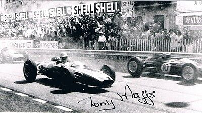 TONY MAGGS - Signed B/W action photograph