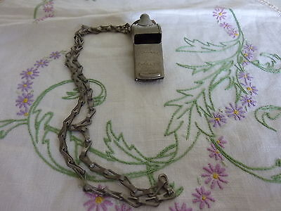 Vintage Rider & Bell  Sydney Aussie Thriller Whistle With Metal Chain And Tag