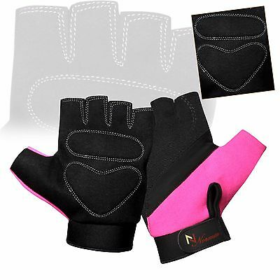 Ladies Gel Gloves Fitness Gym Wear Weight Lifting Workout Training Cycling New