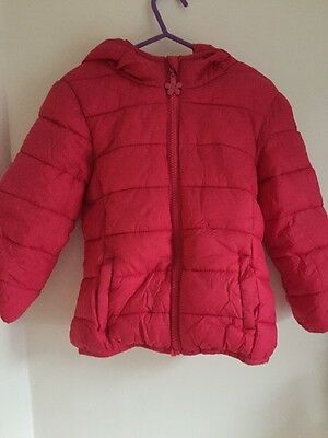 F&F Girls Age 3-4 Padded Pink Puffer Style Coat