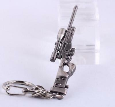 Sniper rifle AWP Model Mini ​Weapon Gun Metal Keyring Keychain Key Ring Chain *