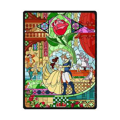 """New Arrival Brand New Soft Beauty and the Beast Throw Blanket 58"""" x 80"""" Inch"""