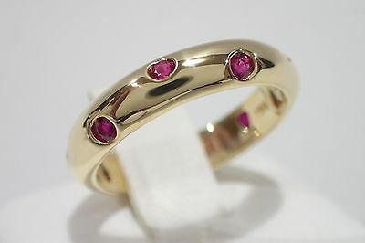TIFFANY & CO. 18k gold Etoile ruby band ring size 6.5