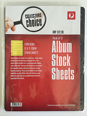 New Australia Post Collectors Choice 12 Pack 7 Hole 7 Strip Stock Album Sheets