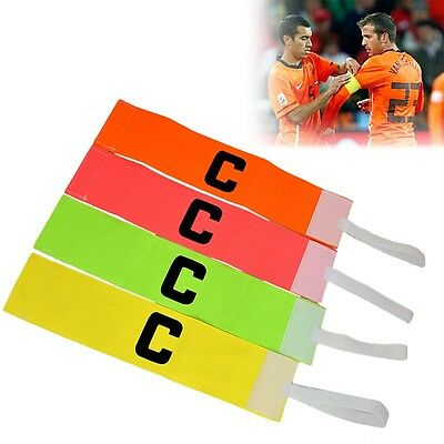 Adjustable Football Soccer Sports Player Bands Fluorescent Captain Armband