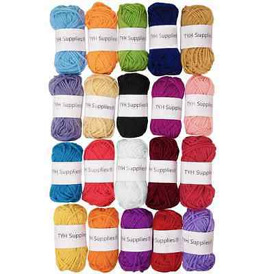 TYH Supplies 20 Skeins Bonbons Yarn Assorted Colors - 100% Acrylic