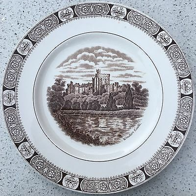 """""""Windsor Castle"""" Sepia Plate by North Staffordshire Pottery"""