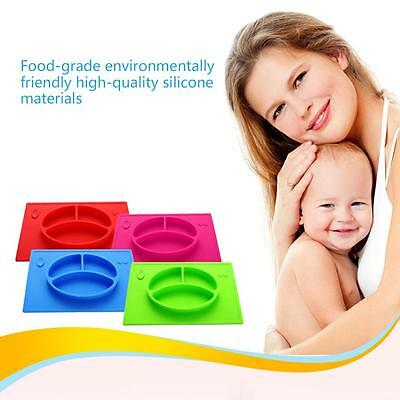 Non-slip Baby Bowl Meal Mat Silicone Tableware Feeding Safety Pad