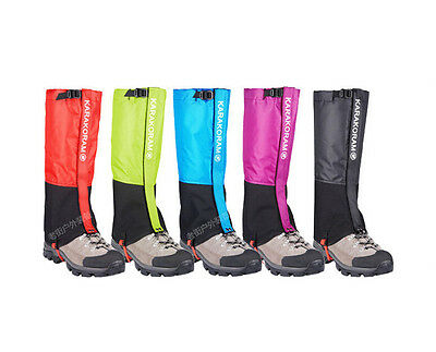 Waterproof Outdoor Climbing Hiking Snow Ski Gaiters Leg Cover Boot 4Color 3Size