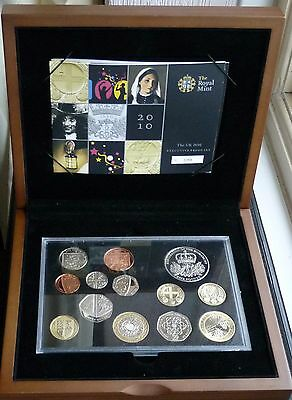 Royal Mint 13 Coin Executive Proof Set Including London + Belfast £1.00 2010