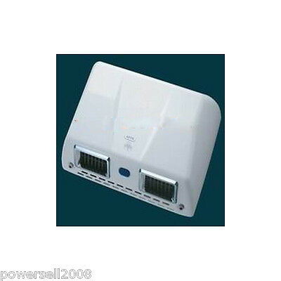 New Double Air Outlet Automatic High Alloy Material White Electric Hand Dryer