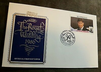 1986 St Vincent Royal Wedding Prince Andrew FDC