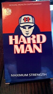 HARD MAN stronger than Herbal Blue Capsules x 10 450mg of effective ingredients