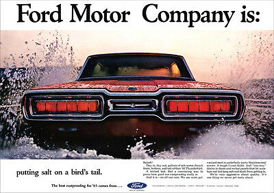 Ford Thunderbird 65 Retro A3 Poster Print From Classic Advert 1965